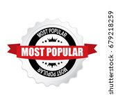 most popular round silver badge ... | Shutterstock .eps vector #679218259
