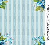 seamless floral pattern with... | Shutterstock .eps vector #679223839