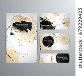 set of vector design templates. ... | Shutterstock .eps vector #679229425