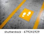 walkway lane in parking...   Shutterstock . vector #679241929