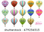 hot air balloons collection set ...   Shutterstock .eps vector #679256515