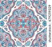 beautiful indian floral paisley ... | Shutterstock .eps vector #679259329