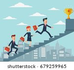 business people going up the... | Shutterstock .eps vector #679259965