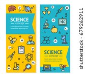 science research vertical... | Shutterstock .eps vector #679262911