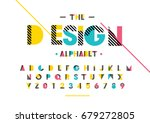 vector of modern abstract font... | Shutterstock .eps vector #679272805