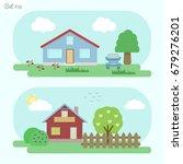 family home   icon set 12....   Shutterstock .eps vector #679276201