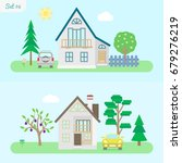 family home   icon set 6....   Shutterstock .eps vector #679276219