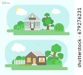 family home   icon set 10....   Shutterstock .eps vector #679276231