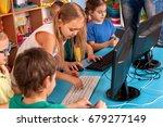 children computer class us for... | Shutterstock . vector #679277149