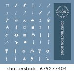 construction icon set vector | Shutterstock .eps vector #679277404