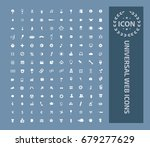 universal web icon set vector | Shutterstock .eps vector #679277629