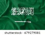 saudi arabia flag painting on... | Shutterstock . vector #679279081