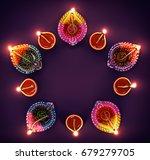 happy diwali   colorful diya... | Shutterstock . vector #679279705