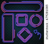 neon border design | Shutterstock .eps vector #679281085