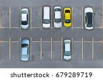 empty parking lots  aerial view. | Shutterstock . vector #679289719