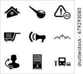 set of 9 mixed icons such as...   Shutterstock .eps vector #679293085
