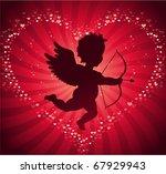valentine's day cupid background