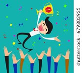 successful businessman being... | Shutterstock .eps vector #679302925