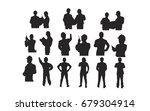 silhouette group of technician... | Shutterstock .eps vector #679304914