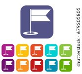 locator flag icons set vector... | Shutterstock .eps vector #679305805
