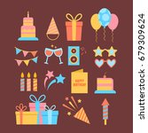 abstract happy birthday... | Shutterstock .eps vector #679309624