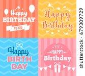 abstract happy birthday... | Shutterstock .eps vector #679309729
