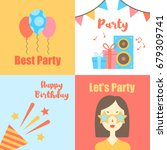 abstract happy birthday... | Shutterstock .eps vector #679309741