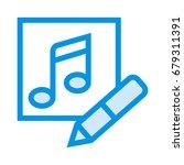 music editor icon | Shutterstock .eps vector #679311391