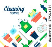 cleaning service flat... | Shutterstock .eps vector #679316854