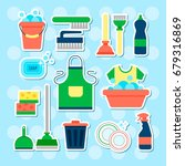 cleaning service flat... | Shutterstock .eps vector #679316869
