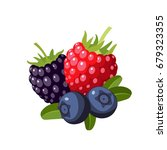set of colorful cartoon berries ... | Shutterstock .eps vector #679323355