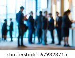 abstract blur group of people... | Shutterstock . vector #679323715