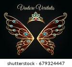 wings and tiara princess...   Shutterstock .eps vector #679324447