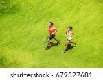 runners running healthy people...   Shutterstock . vector #679327681