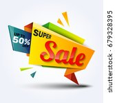 sale discount banner design... | Shutterstock .eps vector #679328395