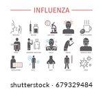 influenza. flu symptoms ... | Shutterstock .eps vector #679329484