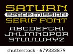 square serif font in computer... | Shutterstock .eps vector #679333879