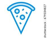 pizza icon | Shutterstock .eps vector #679334827