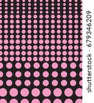 vector retro pink dots on a... | Shutterstock .eps vector #679346209