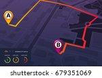 city map navigation infographic....