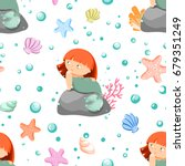 seamless pattern with cute... | Shutterstock .eps vector #679351249