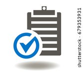 checklist check mark vector... | Shutterstock .eps vector #679353931