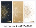 modern golden set of vector... | Shutterstock .eps vector #679362001
