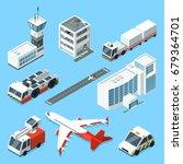 airline terminal  aero tower ...   Shutterstock .eps vector #679364701