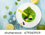 cold refreshing drink with mint ... | Shutterstock . vector #679365919