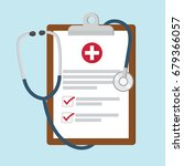 medical clipboard with... | Shutterstock .eps vector #679366057