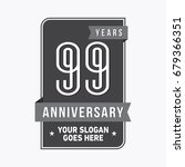 99 years anniversary design... | Shutterstock .eps vector #679366351