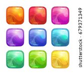 cartoon colorful square glossy...