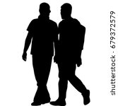 silhouettes of gay men holding... | Shutterstock . vector #679372579