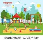children's playground vector... | Shutterstock .eps vector #679374739